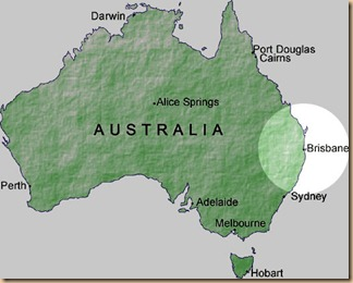 AustraliaBrisbaneMap